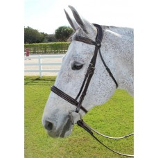 HDR PRO STRESS FREE FANCY PADDED BRIDLE with PATENT PIPE