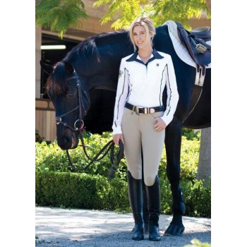 ROMFH LADIES INTERNATIONAL EURO SEAT KNEE PATCH BREECH