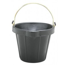 FORTEX HEAVY DUTY RUBBER PAIL WITH BRASS FITTINGS AND POURING LIP 11 LITRE