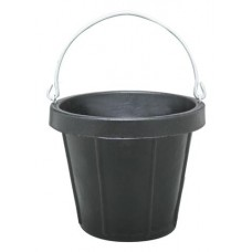 FORTEX HEAVY DUTY RUBBER PAIL WITH STAINLESS STEEL FITTINGS 11 LITRE