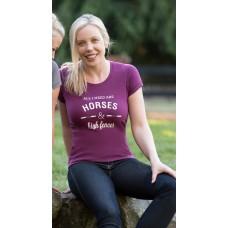 IRIDEON LADIES HORSE & HIGH FENCES SHORT SLEEVE TEE