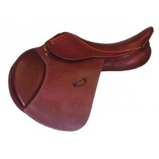 HDR ADVANTAGE CLOSE CONTACT FLOCKED PANEL SOFT FLAP SADDLE,PRINTED OAKBARK, REGULAR OR WIDE