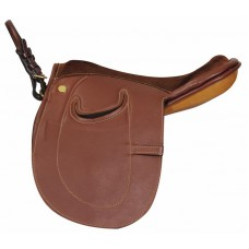 HDR ADVANTAGE PONY LEADLINE SADDLE, OAKBARK