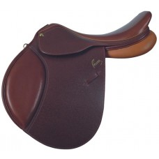 PESSOA A/O PADDED FLAP SADDLE, SMOOTH ANTIQUE OAKBARK