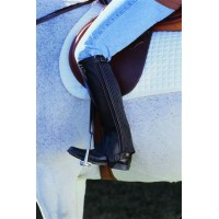 CAVALIER LEATHER STRETCH RIB HALF CHAP