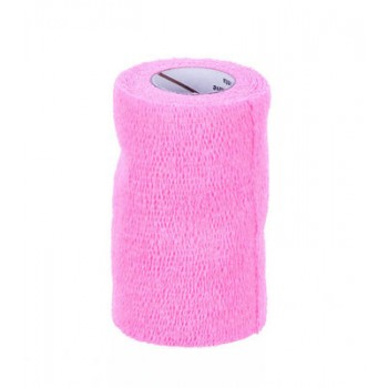 3M VETRAP BANDAGE, 4 INCH X 5 YARDS, HOT PINK