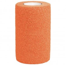 3M VETRAP BANDAGE, 4 INCH X 5 YARDS, BRIGHT ORANGE