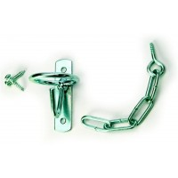 NICKEL PLATED GATE LATCH with CHAIN