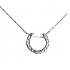 UNIQUELY EQUINE STERLING SILVER NECKLACE & PENDANT - SINGLE HORSESHOE