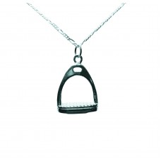 UNIQUELY EQUINE STERLING SILVER NECKLACE & PENDANT - STIRRUP