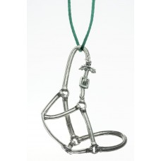 UNIQUELY EQUINE HALTER WITH HOLLY PEWTER ORNAMENT