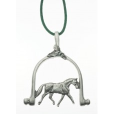 UNIQUELY EQUINE DRESSAGE SPUR PEWTER ORNAMENT