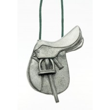 UNIQUELY EQUINE HUNTER/JUMPER SADDLE PEWTER ORNAMENT