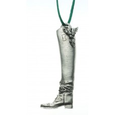 UNIQUELY EQUINE FIELD BOOT WITH HOLLY PEWTER ORNAMENT