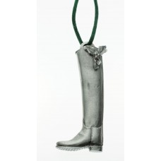 UNIQUELY EQUINE DRSSGE BOOT WITH HOLLY PEWTER ORNAMENT