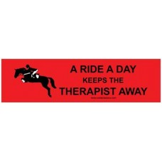 COSTA CLASSICS BUMPER STICKER, A RIDE A DAY, RED