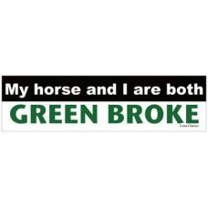 COSTA CLASSICS BUMPER STICKER, GREEN BROKE