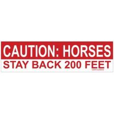 COSTA CLASSICS BUMPER STICKER, CAUTION: HORSES