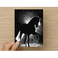 COSTA CLASSICS BOX NOTE CARD, HORSE ILLUMINATED