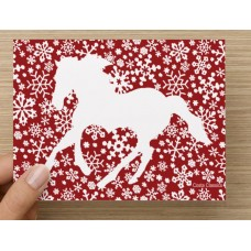 COSTA CLASSICS BOX NOTE CARD, HEART HORSE