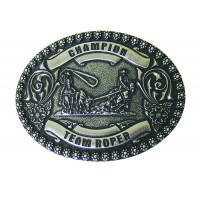 ANDWEST ANTIQUE SILVER CHAMPION TEAM ROPER BUCKLE