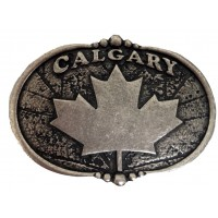 "ANDWEST ANTIQUE SILVER ""CALGARY"" WITH MAPLE LEAF BUCKLE AND BERRY EDGE DETAIL"