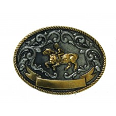 ANDWEST KIDS ANTIQUE TWO-TONE MUTTON BUSTIN' BUCKLE