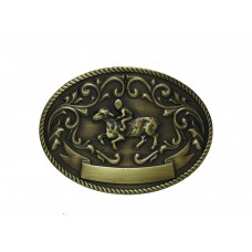 ANDWEST KIDS ANTIQUE BRASS MUTTON BUSTIN' BUCKLE