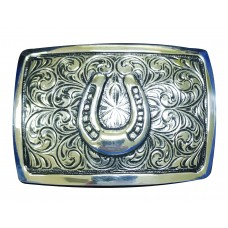 ANDWEST ICONIC ANTIQUE SILVER HORSESHOE BUCKLE