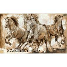 ELISE GENEST GREETING CARD, CABALLOS DE ORO