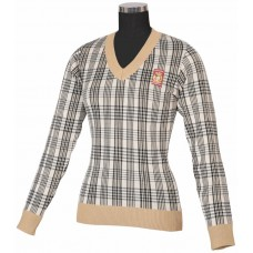 EQUINE COUTURE LADIES BAKER PLAID SWEATER