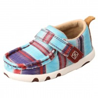 TWISTED X INFANT HOOEY DRIVING MOC, BLUE MULTI