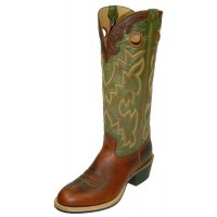 TWISTED X BUCKAROO MENS U TOE BOOT, EE WIDTH, 16 INCH, RUST/OLIVE