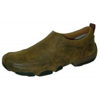 TWISTED X CASUAL MENS DRIVING MOC SLIPON, D TOE, BOMBER
