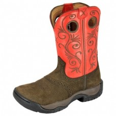 TWISTED X LADIES ALL ROUND BOOT, K TOE, 8 INCH, DUSTY BROWN/RED