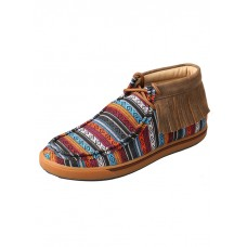 TWISTED X LADIES CASUAL SHOE WITH SERAPE FRINGE, B TOE