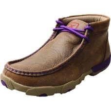 TWISTED X LADIES CASUAL DRIVING MOC, D TOE, BOMBER/PURPLE