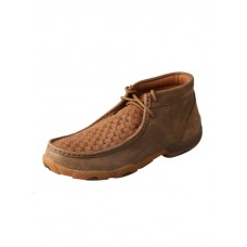 TWISTED X LADIES DRIVING MOC, D TOE, BOMBER/TAN
