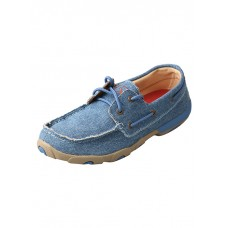 TWISTED X LADIES DRIVING MOC, D TOE, DENIM CANVAS