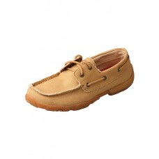 TWISTED X LADIES DRIVING MOC, D TOE, KHAKI CANVAS
