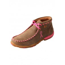 TWISTED X LADIES DRIVING MOC, D TOE, HIGH, BOMBER/NEON PINK