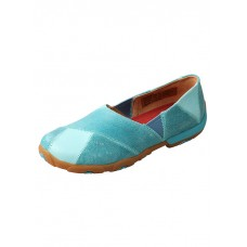 TWISTED X LADIES CASUAL LOAFER, D TOE, OCEAN BLUE