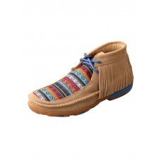 TWISTED X LADIES DRIVING MOC, D TOE, SERAPE FRINGE