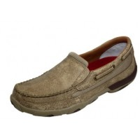 TWISTED X CASUAL LADIES DRIVING MOC SLIP ON, D TOE, DUSTY TAN