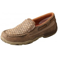 TWISTED X LADIES SLIP-ON DRIVING MOC, D TOE, BOMBER/TAN