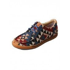 TWISTED X LADIES HOOEY CASUAL SHOE WITH LACES, C TOE, GRAPHIC PATTERN CANVAS