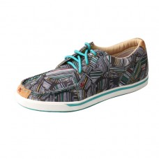 TWISTED X LADIES HOOEY CANVAS LOPER, GREY/MULTI