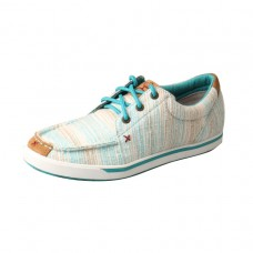 TWISTED X LADIES HOOEY CANVAS LOPER, BLUE/MULTI