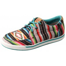 TWISTED X LADIES HOOEY CANVAS LOPER, BLACK/SERAPE
